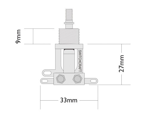 Short straight toggle switch dimensions